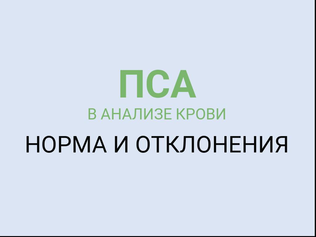 Норма ПСА