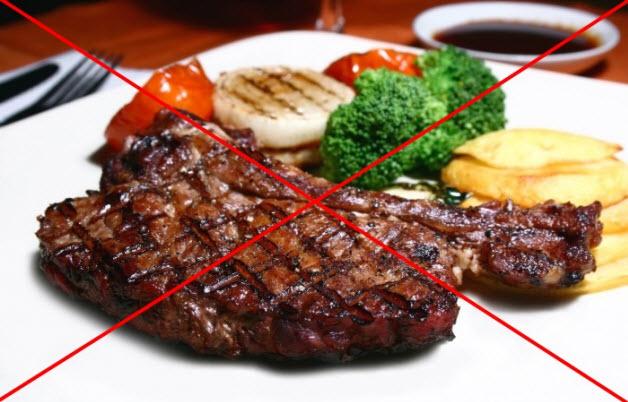 Ограничить жирную, жареную, соленой пищу