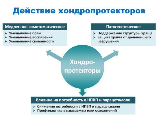 Схема действия хондропротекторов