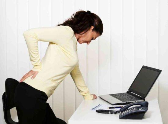Боль в пояснице при сидячей работе