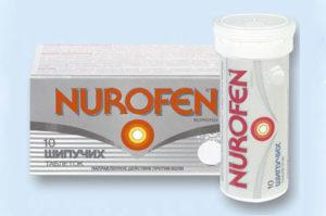 Шипучие таблетки нурофен