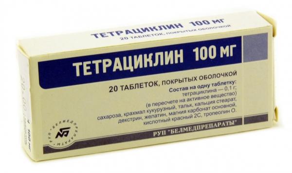 Тетрациклин дозировка