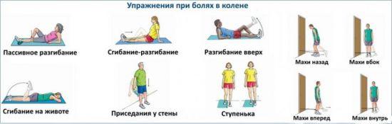 ЛФК при боли в коленях