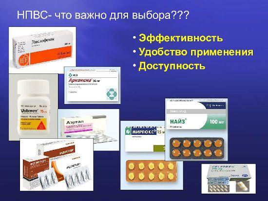 Таблетки от воспаления